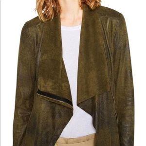 Zara green faux suede effect jacket